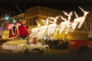 Santa's sleigh at Fantasy of Lights Parade